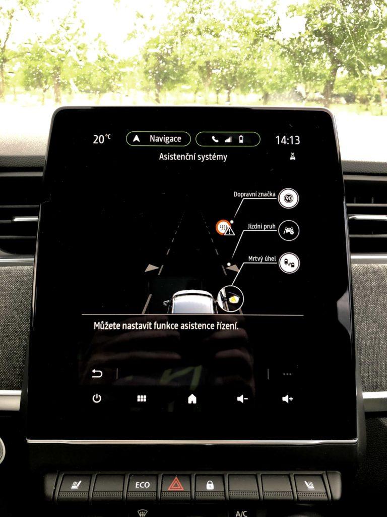 Renault Zoe asistenční systémy