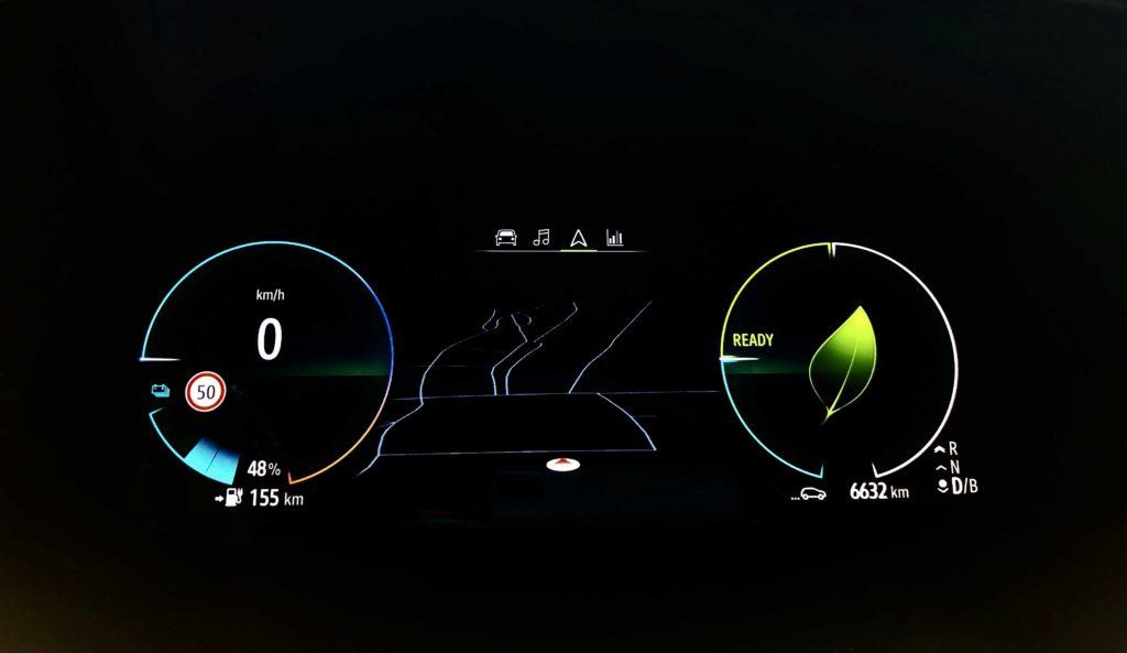 Renault Zoe kaplička přístrojů