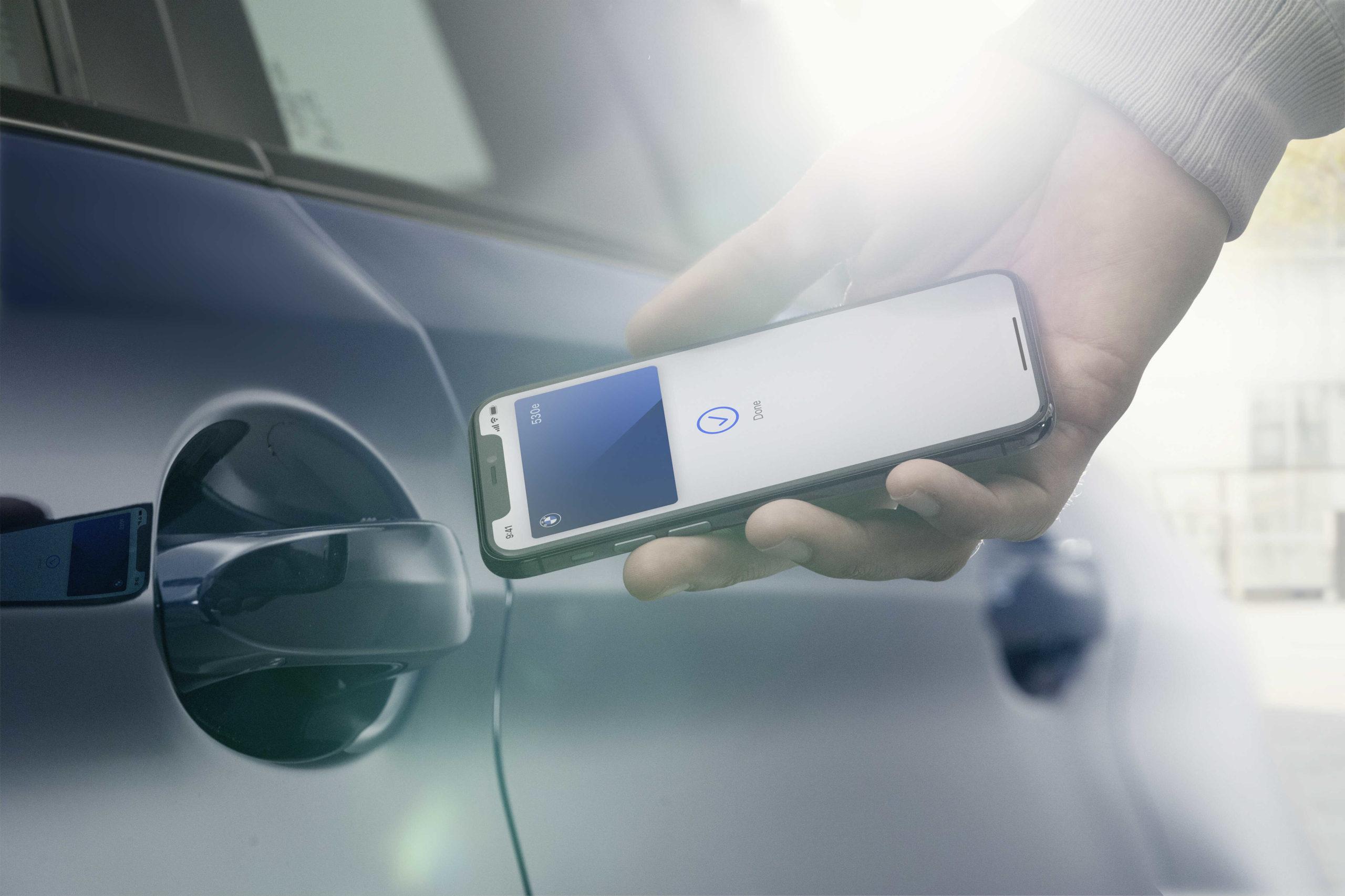 BMW digitální klíč Apple iPhone