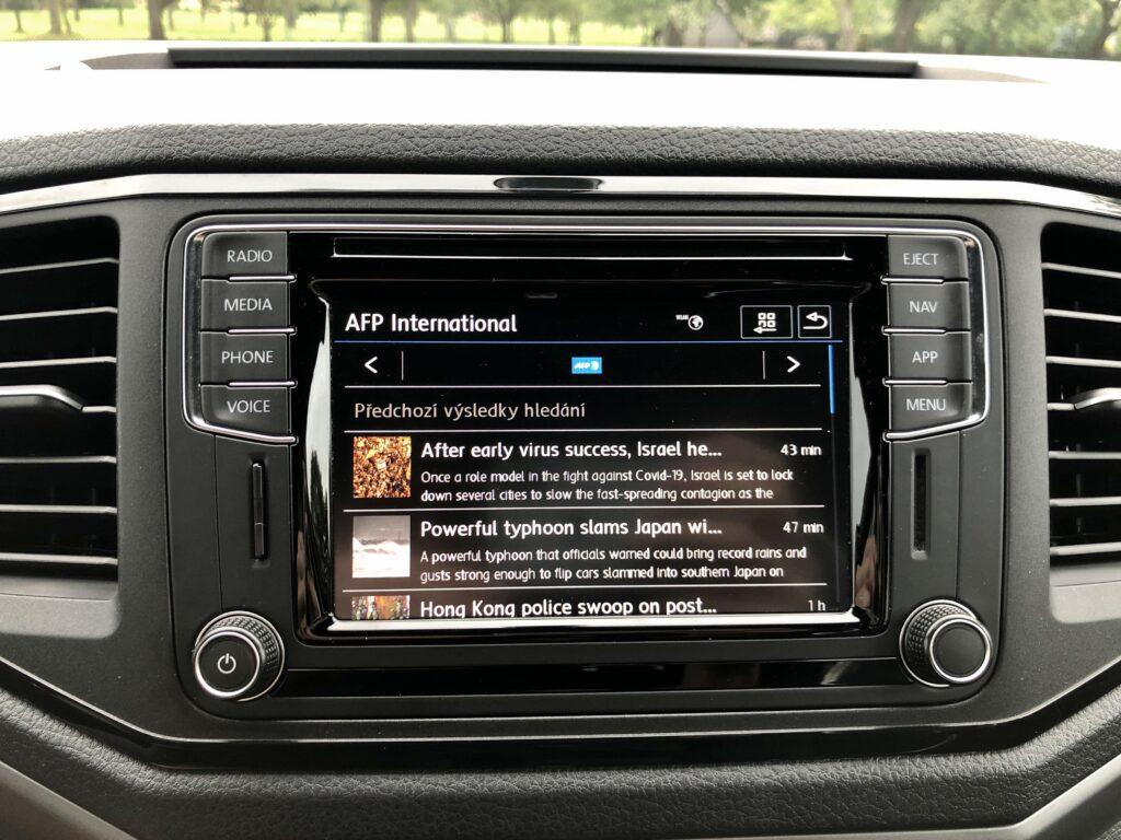 Volkswagen Amarok Canyon ifotainment carnet